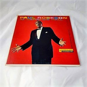 Paul Robeson At Carnegie Hall Vinyl Record LP